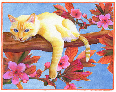 Flame Point Painting - In The Pink by Aura Lesnjak