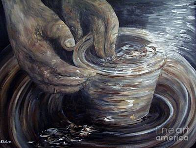A Hand-thrown Painting - In The Potter's Hands Smaller Version by Eloise Schneider