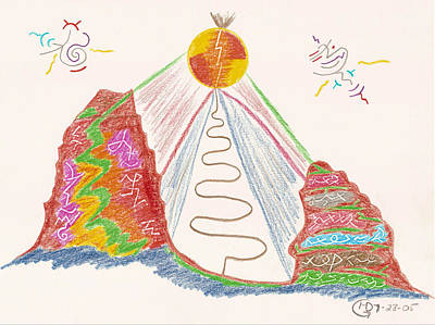 Visionary Art Drawing - In The Spotlight by Mark David Gerson