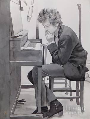 Bob Painting - In The Studio by Robert Hooper