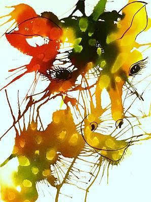 Splashy Art Painting - In The Wild by Ellen Levinson