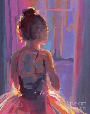 Ballet Dancers Painting - In The Wings by Kimberly Santini