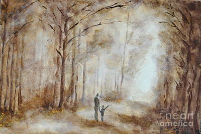 Mist Painting - In The Wood by Martin Capek