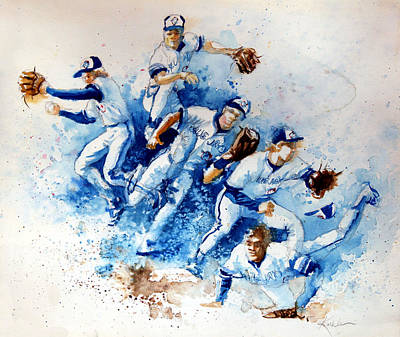 Major League Baseball Painting - In The Zone by Hanne Lore Koehler