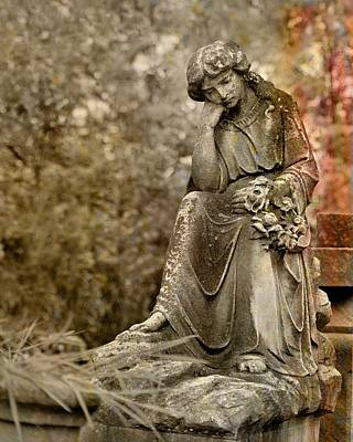 Graveyard Digital Art - In Thought by Gothicolors Donna Snyder