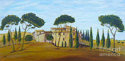 Acylic Painting - In Tuscany by Christine Huwer