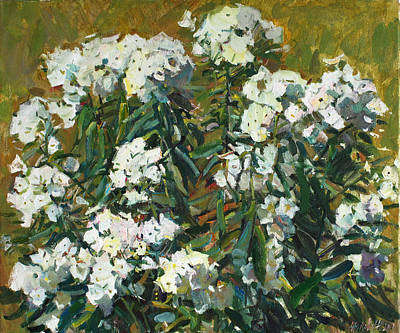 Phlox Painting - In White Dress by Juliya Zhukova