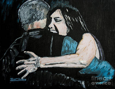 Crying Painting - In Your Daddy's Arms Again by Ian Donley