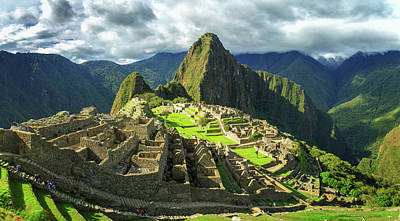 Ancient Civilization Photograph - Inca City Of Machu Picchu, Urubamba by Panoramic Images