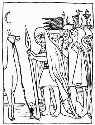 Llama Drawing - Inca Empire Dead Ruler by Granger