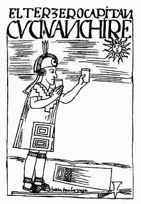 Worship God Drawing - Inca Sun Worship by Granger