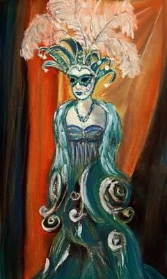 Woman Painting - Incognito by Anastasiya Malakhova