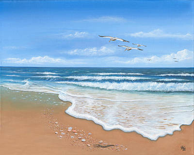 Incoming Tide Painting - Incoming Tide by Anthony Fotia