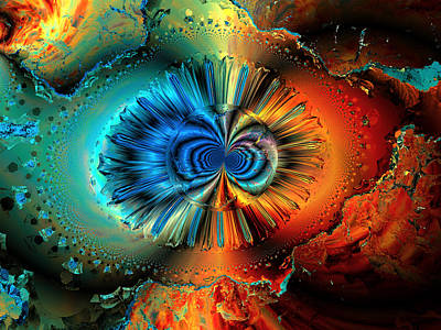 Computer Generated Digital Art - Incomplete Metamorphosis by Claude McCoy