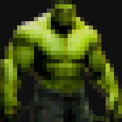 Incredible Hulk Painting - Incredible Hulk by Tony Rubino
