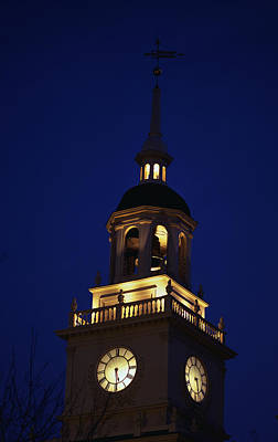 Liberation Photograph - Independence Hall Tower Philadelphia Pa by Panoramic Images
