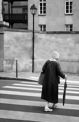 Independence - Street Crosswalk - Woman Print by Nikolyn McDonald