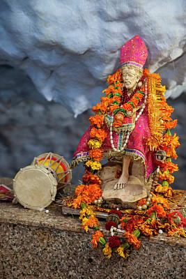 India Babas Photograph - India, Dehradun Statue Of Sai Baba by Charles O. Cecil