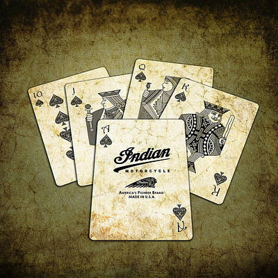 Playing Cards Photograph - Indian - The Winning Hand by Mark Rogan