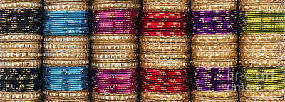 Indian Bangles Panoramic Print by Tim Gainey