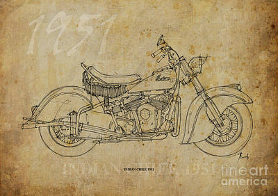 Indian Chief 1951 Print by Pablo Franchi