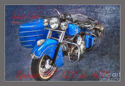 Indian Chief Motorcycle Legend Print by Heiko Koehrer-Wagner