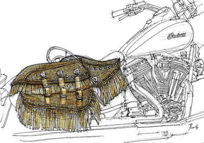 Indian Chief Drawing - Indian Chief Vintage 2012 by Pablo Franchi