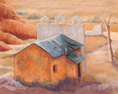 Indian Cliffs Church Print by Candy Mayer