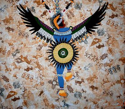 Indian Dance Print by Linda Egland