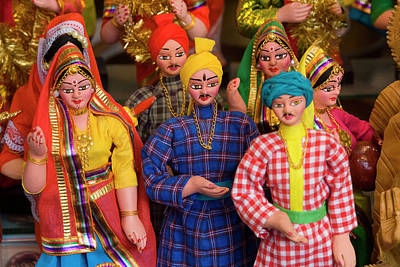 Doll Photograph - Indian Dolls Red Fort, Delhi, India by Peter Adams