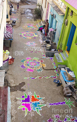 Rangoli Photograph - Indian Festival Morning  by Tim Gainey