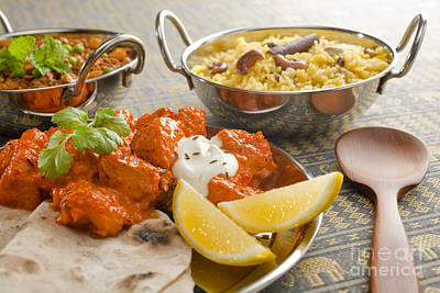 Chicken Photograph - Indian Meal  by Colin and Linda McKie