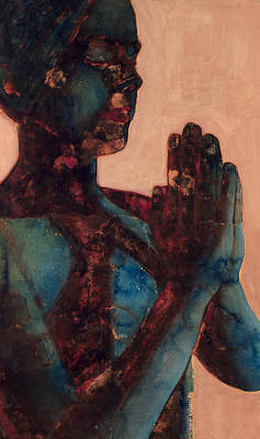 Blurred Painting - Indian Prayer by Graham Dean