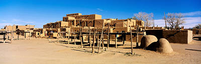 Pueblo Architecture Photograph - Indian Pueblo, Taos, New Mexico, Usa by Panoramic Images
