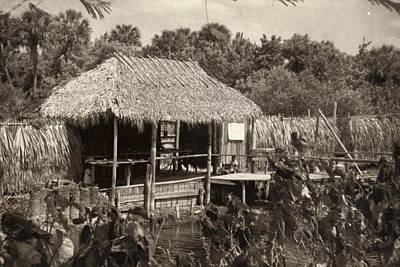 Indian Sod Hut In The Early Century Print by Pat Mchale