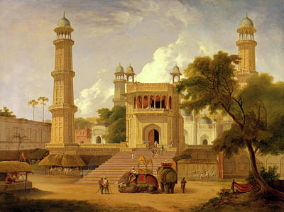 Cupola Painting - Indian Temple, Said To Be The Mosque Of Abo-ul-nabi by Litz Collection