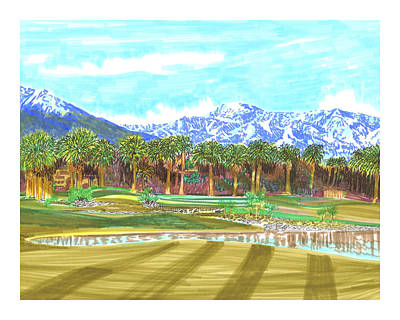 Indian Wells 18th Hole Print by Jack Pumphrey