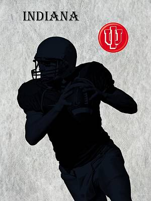 Michigan State Digital Art - Indiana Football by David Dehner
