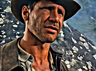 Ford Painting - Indiana Jones by Florian Rodarte