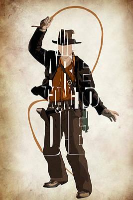Ark Drawing - Indiana Jones Vol 2 - Harrison Ford by Ayse Deniz