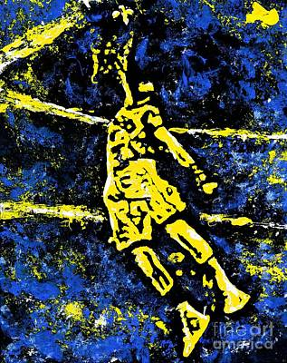 Basketball Abstract Painting - Indiana Pacers by Alys Caviness-Gober