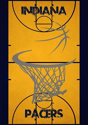 Indiana Photograph - Indiana Pacers Court by Joe Hamilton