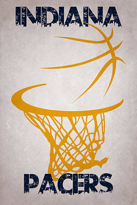 Indiana Pacers Hoop Print by Joe Hamilton