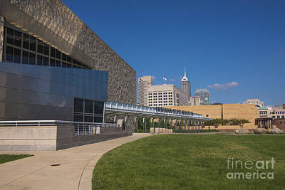 Indy Car Photograph - Indiana State Museum And Indianapolis Skyline by David Haskett