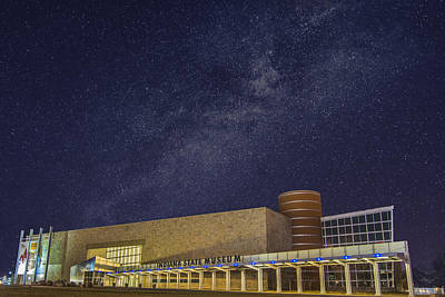 Indiana State Museum Night Star Play Print by David Haskett
