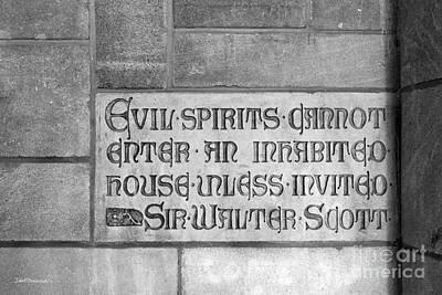 Indiana University Memorial Hall Inscription Print by University Icons