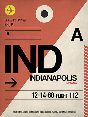 Indiana Digital Art - Indianapolis Airport Poster 1 by Naxart Studio
