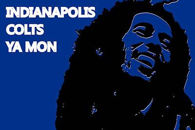 Drum Photograph - Indianapolis Colts Ya Mon by Joe Hamilton