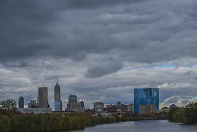 Indianapolis Indiana Skyline N Storm Print by David Haskett
