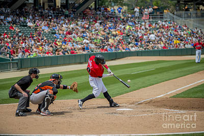 Indiana Landscapes Photograph - Indianapolis Indians Brett Carroll June 9 2013 by David Haskett